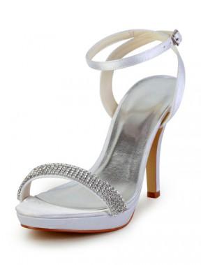 Zapatos de novia de seda y satén con pedrería Geox Jr Arno A PRrwhN