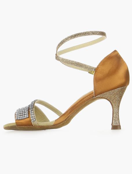 Zapatos de bailes latinos de seda y satén EHd6hI